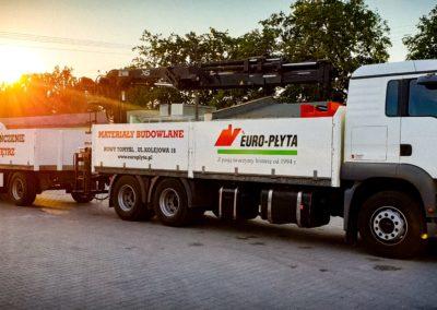 Euro-płyta cieżarówka